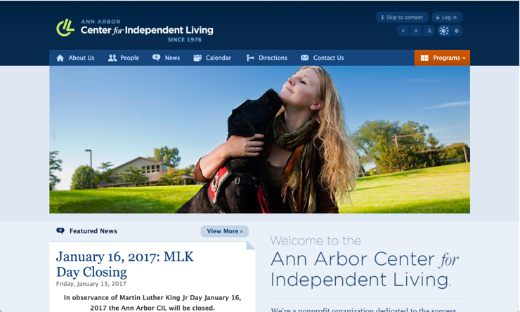 Website of Ann Arbor Center for Independent Living.